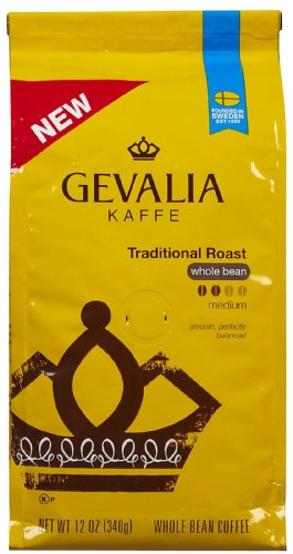 Gevalia Premium Traditional Roast Whole Bean Coffee-12 oz (Coffee Gevalia Whole Bean compare prices)