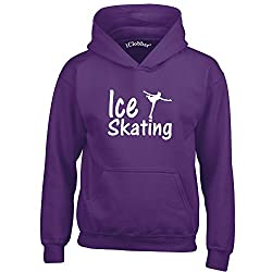 iClobber Ice Skating Hoodie for Girls Kids Beautiful Skating Figure Design