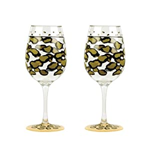 Lolita Love My Party Leopard Acrylic Wine Glasses
