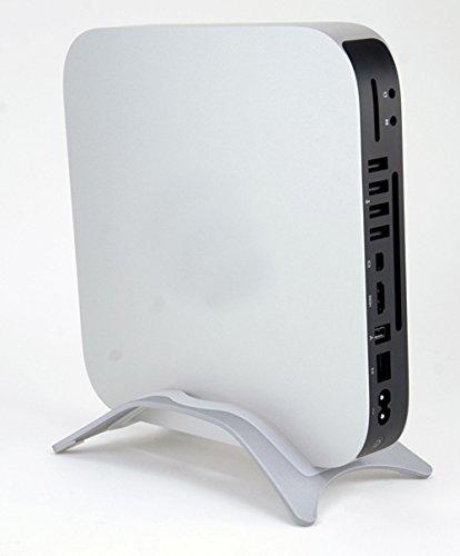 Ariic New Silver Aluminum Bookarc Tabletop Stand for Apple Mac Mini All Model