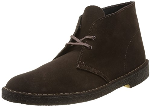 Clarks - Desert Boot, Stringate da uomo, marrone (brown suede), 45