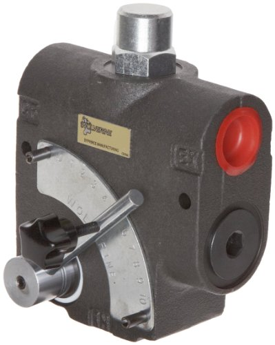 Prince WR-1950-16 Wolverine Adjustible Flow Control Valve with Inlet Relief at 1500 psi, 16 gpm Max Flow, 1/2