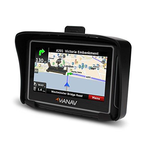 "ViaNav Motorrad Navi GPS Navigationssystem Bluetooth, 4,3"", Europakarte Kymco People S 125"