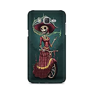 Mobicture Skull Abstract Premium Printed Case For Samsung J3