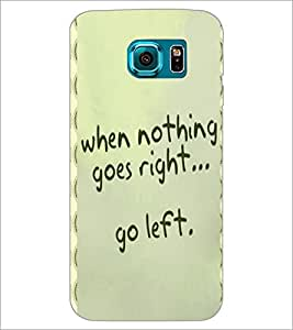 PrintDhaba Quote D-4453 Back Case Cover for SAMSUNG GALAXY S6 EDGE (Multi-Coloured)