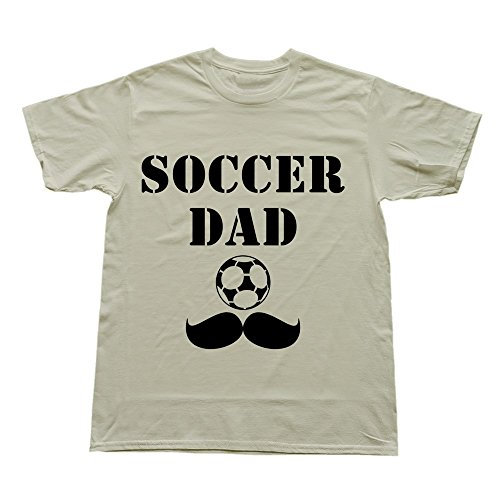 Hoxsin Natural Men'S Soccer Dad Stylish 100% Cotton Tee Shirt Us Size L