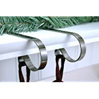 MantleClip Stocking Holders - Brushed Nickel