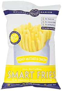 Gourmet Basics Smart Fries Honey Mustard and Onion, 3-Ounce Bags (Pack of 12)