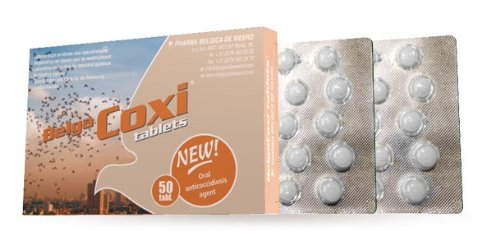 Belgica De Weerd Belgacoxi 50 Tablets. Against Coccidiosis. For Pigeons, Birds & Poultry