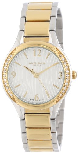 Akribos XXIV Women's AK548TTG Swiss Quartz Stainless Steel Crystal Watch