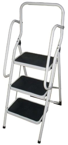 3 Tread Super Safe Step Ladder with Hand Rail