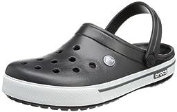 crocs Unisex Crocband II.5 Clog ,Black/Charcoal,10 US Women / 8 US Men