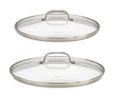 Cuisinart 71-2228CG Chef's Classic Stainless 2-Piece Glass Lid Set