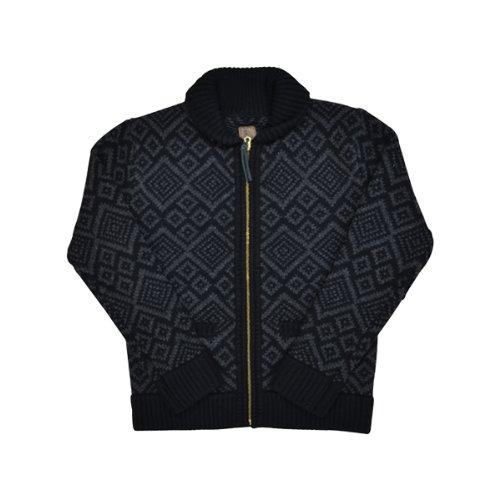 (ピーアールピーエス グッズアンドコー) PRPS GOODS & CO. ZIP CARDIGAN カーディガン ニット カウチン セーター Lサイズ BLACK (並行輸入品)