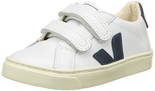 VEJAEsplar Velcro - Scarpe da Ginnastica Basse Unisex - Bambini , Bianco (Blanc (Extra White/Nautico Pierre)), 30