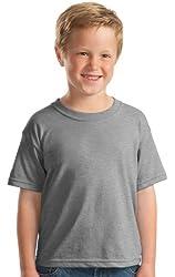 Gildan Youth Dryblend Taped Neck Short Sleeve T-Shirt_Sport Grey