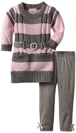Little Lass Baby-girls Infant 2 Piece Sweater Dress Set, Pink, 12 Months
