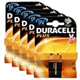 Duracell MN1604PLUS-B1 Plus Alkaline General Purpose Battery 9V Size 5 Packs