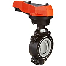 GF Piping Systems CPVC Butterfly Valve, Hand Lever with Ratchet Settings, EPDM Seal, 3""