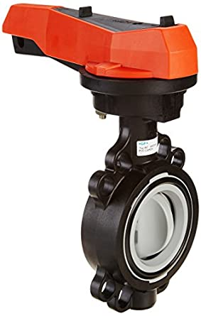 GF Piping Systems CPVC Butterfly Valve, Hand Lever with Ratchet Settings, EPDM Seal