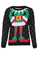 Womens Elf Knitted Novelty Christmas Jumper