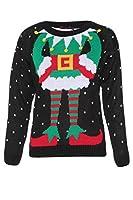 Womens Elf Knitted Novelty Christmas Jumper
