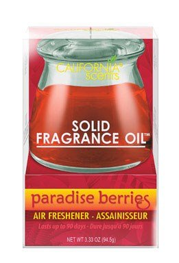 California Scents Solid Fragrance Oil Paradise Berries Jar 3.4 Oz
