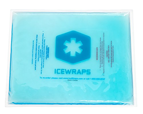 Blue 10x12 Gel Pack Reusable Large Ice Pack, Microwavable Hot Pack, Cooling Pad, Pain Relief First Aid By IceWraps (Freezer Pack For Hips compare prices)