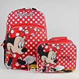 Disney Minnie Mouse 16 Full Size Backpack with Bonus Detachable Lunch Bag