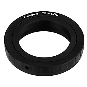 Fotodiox Lens Mount Adapter, T/T2 Lens to Canon EOS Camera, for Canon EOS 1D, 1DS, Mark II, III, IV, 1DX, 1DC, 5D, 5D Mark II, II 7D, 10D, 20D, 30D, 40D, 50D, 60D, 70D, Digital Rebel T3i, T4i, T5i, SL1, and C300, C500