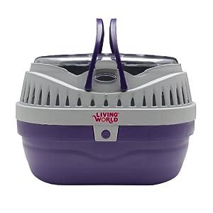 Hagen Living World Pet Carrier, Purple/Grey