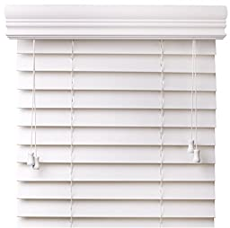 Premium 2 inch faux wood blinds, Snow White, 19 1/8 x 60