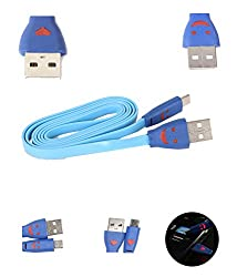 FUSON PREMIUM LIGHTING MICRO USB DATA TRANSFER AND CHARGING DATA CABLE FOR PANASONIC P81 - BLUE