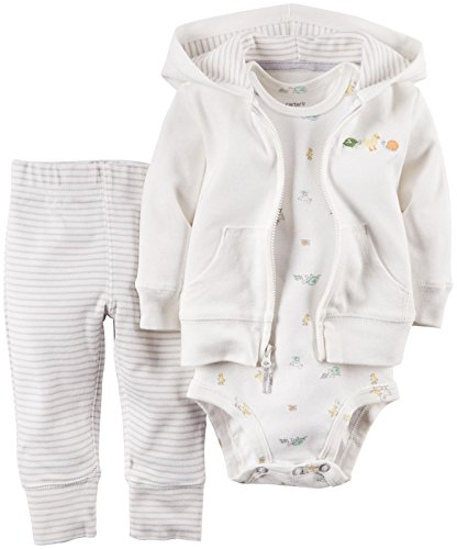 Carter's Unisex Baby 3 Piece Cardigan Set (Baby) – Ivory – Newborn