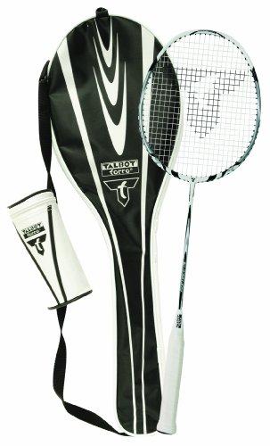 talbot-torro-isoforce-211-set-set-de-badminton-1-raquette-3-volants-tech-350-blanc-noir-jaune