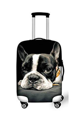 3D Cute French Bulldog Waterproo Luggage Protective Dust Covers Fof 18 20 22 24 26 28 30 Inch Trolley Travel Suitcase Elastic - 4914L (American Bulldog For Sale compare prices)