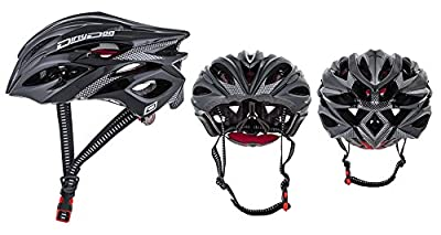 Dirty Dog Polaris Mens Womens Adjustable Cycle Helmet - Black - One Size 54cm - 60cm **RRP £44.99** by Dirty Dog