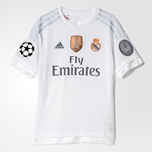Adidas Real Madrid CF Youth Home Jersey-WHITE (XL) (Adidas Real Madrid Cf compare prices)