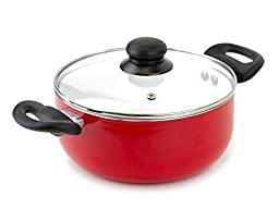 Healthy Cooking Ceramic Dutch Oven and Nonstick Cooking Pot 3 Quart (Red)