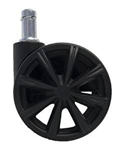 2 5 Replacement Office Chair Caster Wheels With Spokes Se