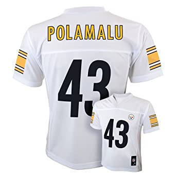 Troy Polamalu Pittsburgh Steelers White NFL Youth 2013 Season Mid-tier Jersey by OuterStuff