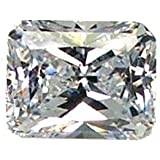 Cz Octagon White Cubic Zirconia Unset Loose Man-made Gem 12mm X 10mm (1)