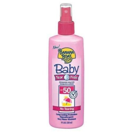 Banana Boat Baby Tear Free UVA & UVB Sunblock Lotion, SPF 50, 8Ounce Tubes (Pack of 2) Picture