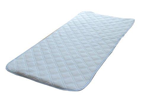 天然素材 綿の冷感敷きパッド 『アイスコットン』 シングル 100×205cm
