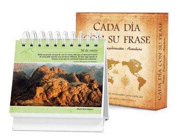 Cada Dia Con Su Frase Viajes Exploracion Aventura: Un Diario Quotebook En Practico Formato de Escritorio