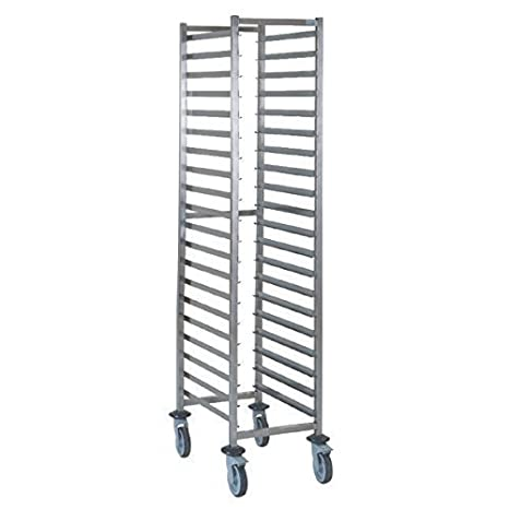 Tournus GN 1/1 Racking Trolley 20 Levels Dimensions 1650(H) x 454(W) x 638(D)mm Weight 21kg