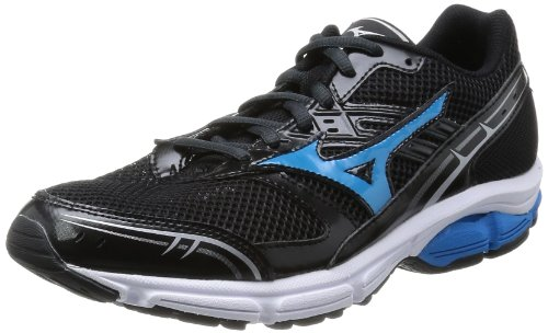 [ミズノ] MIZUNO WAVE IMPETUS WIDE [MEN'S] J1GE1414 27 (ブラック×ブルー/270)