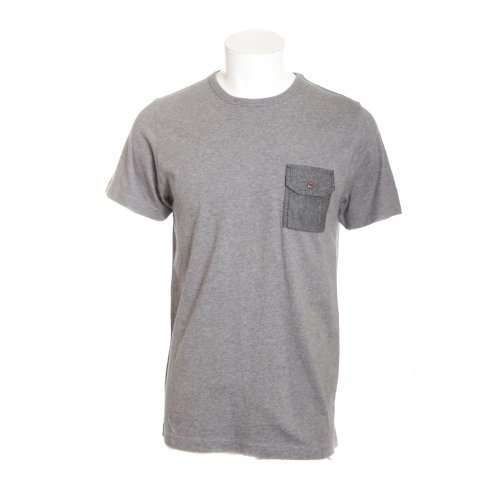 Penfield mens southbridge short sleeve crew neck pocket t-shirt in charcoal grey XXL