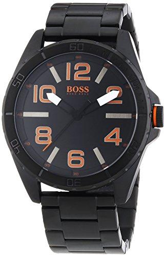 Hugo Boss  Berlin - Reloj de cuarzo para hombre, con correa de acero inoxidable, color negro