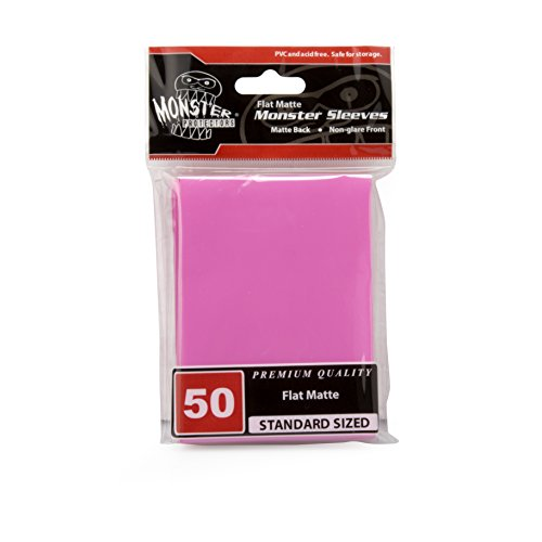 Sleeves - Monster Protector Sleeves - Standard MTG Size Flat Matte - PINK (Fits Magic and Standard Sized Gaming Cards)